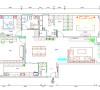 本案整体格局小有调整,增加一些独立收纳空间!墙面无任何装饰,通过局部吊顶划分功能空间!