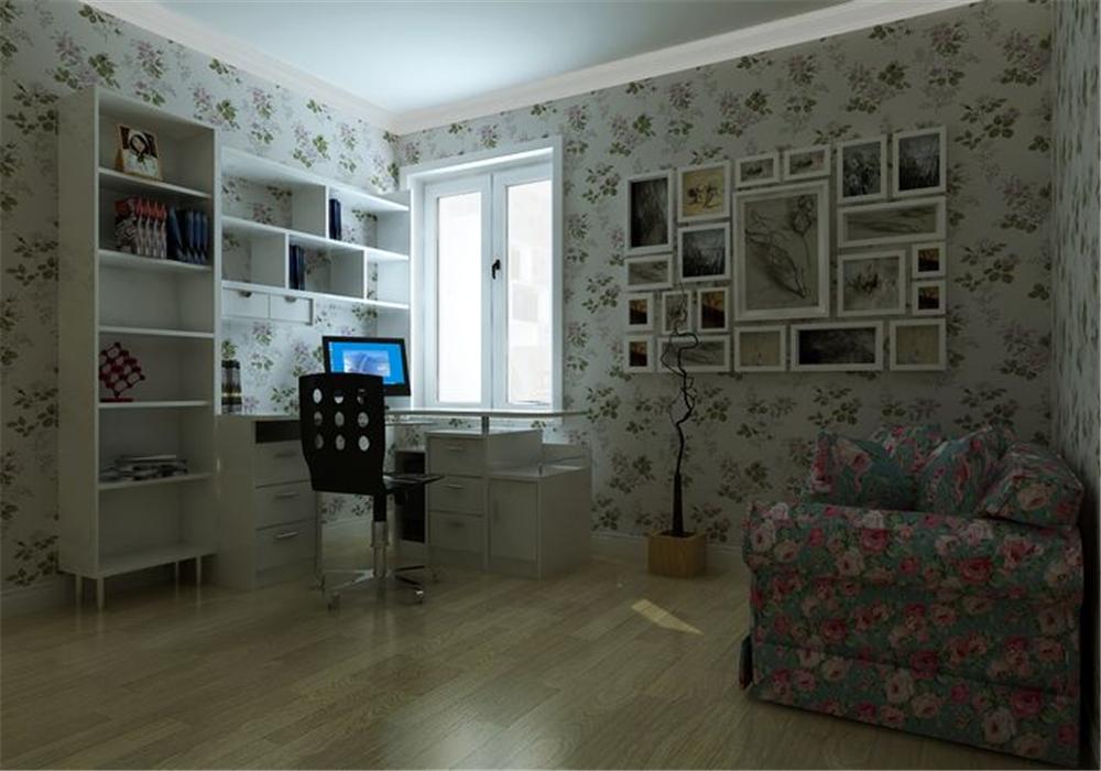 三居 白领 收纳 80后 小资 书房图片来自实创装饰完美家装在华业东方玫瑰108平田园风格案例的分享