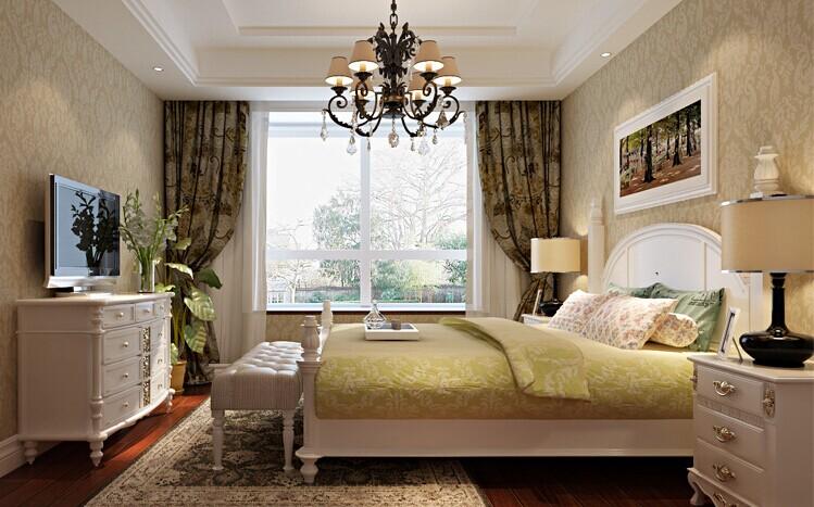 卧室图片来自用户2652703143在伍号院130平三居欧式风格效果图的分享