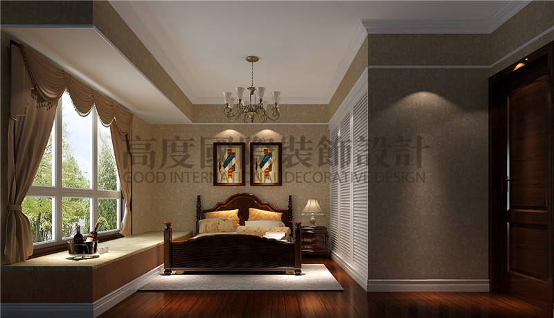 成都高度 别墅装修 别墅装饰 住宅装饰 中冶中央公 88㎡ 美式风格 二居 卧室图片来自北京高度国际装饰设计成都分公司在中冶中央公园-88㎡-美式风格的分享