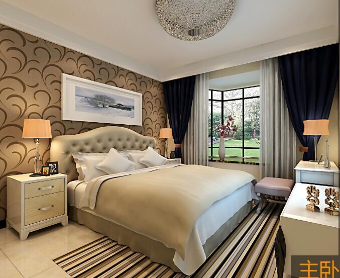 简约 三居 卧室图片来自郑州实创装饰-杨淑平在龙泊桂园131平简约情调设计的分享