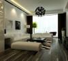 客厅除了黑白分明的线条,没有多余的装饰物。家具简单摆设,功能齐全就可,地面和背景墙无需繁华装饰,给我们的感觉就是纯粹。