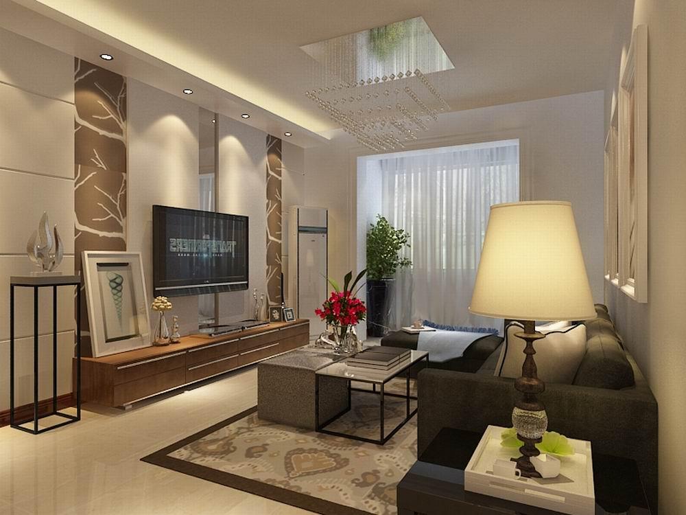 简约 二居 别墅 白领 收纳 80后 小资 旧房改造 客厅图片来自阳光力天装饰梦想家更爱家在天房美域豪庭2室2厅96㎡的分享