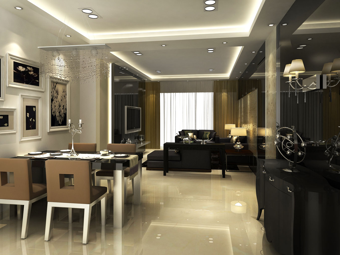 三居 现代 庄士映蝶蓝 小资 新房装修 餐厅图片来自传承正能量在20.7万的现代主义会所和假期居室的分享