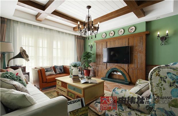 三居 美式 小清新 客厅图片来自大墅尚品-由伟壮设计在『美の风』—美式乡村风格的分享