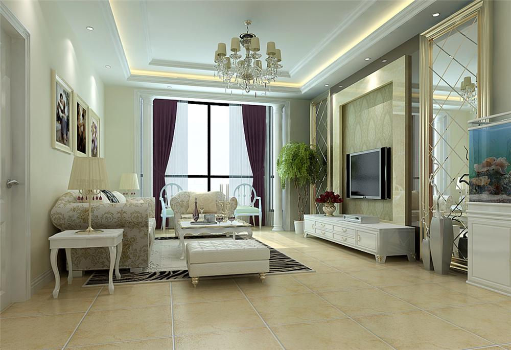 三居 混搭 白领 收纳 80后 小资 客厅图片来自实创装饰完美家装在怀柔龙泉小区180平混搭风格案例的分享