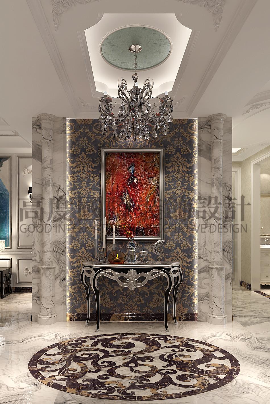 成都 高度国际 泰悦湾 混搭 公寓 玄关图片来自心心念念977在泰悦湾196㎡---现代与法式混搭--的分享