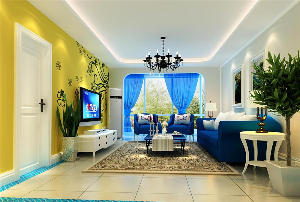 三居 白领 收纳 80后 小资 客厅图片来自实创装饰完美家装在海悦公馆140平地中海风格案例的分享