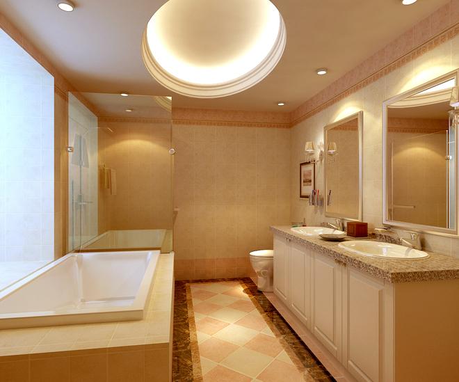 三居 白领 收纳 卫生间图片来自亚光亚装饰在上林溪 三居室 新古典风格的分享