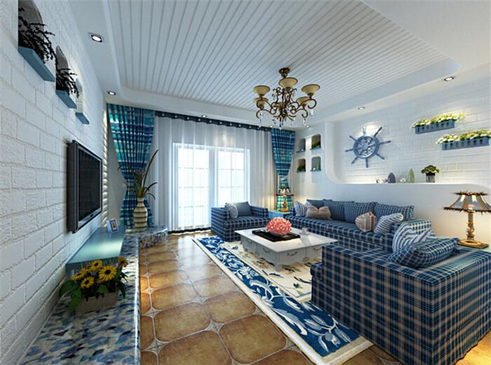 简约 三居 80后 客厅图片来自亚光亚装饰在香溪郡三居地中海的分享