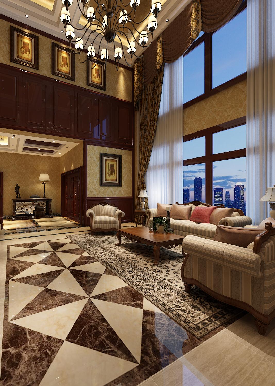 客厅图片来自西安市生活家装饰在华侨城108坊别墅的分享