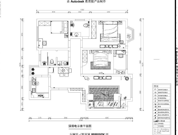 简约 三居 户型图图片来自郑州实创装饰-杨淑平在龙泊桂园131平简约情调设计的分享