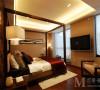 中海国际社区新中式风格设计卧室