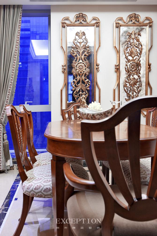 室内设计 例外软装 例外设计 室内设计师 软装设计 餐厅图片来自例外软装设计在古韵留香--舟山百合公寓的分享