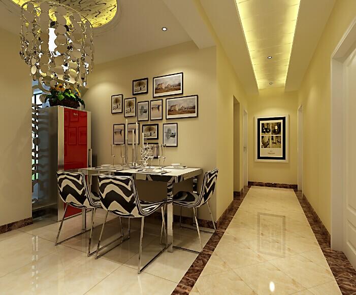 简约 三居 餐厅图片来自郑州实创装饰-杨淑平在龙泊桂园131平简约情调设计的分享
