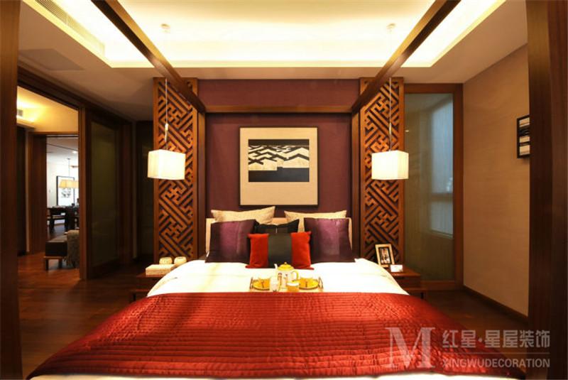 混搭 中式风格 中海国际 四居室 80后 小资 卧室图片来自红星星屋装饰在中海国际社区-新中式风格的分享