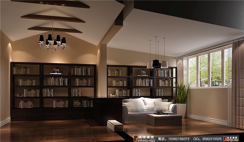 高度国际 书房图片来自成都高端别墅装修瑞瑞在200平米后现代-成都高度国际的分享