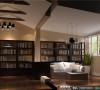 万科五龙山书房细节效果图-成都高度国际装饰