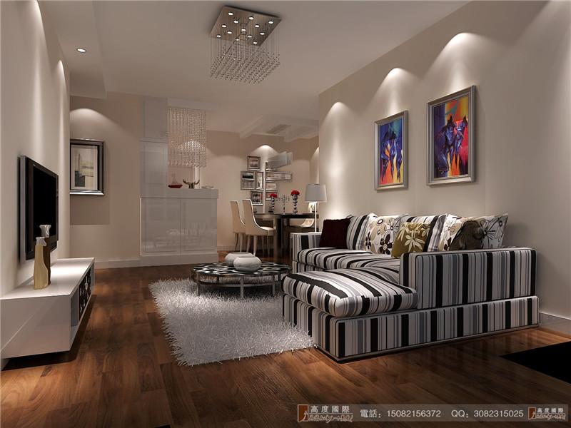 高度国际 客厅图片来自成都高端别墅装修瑞瑞在120平米现代风格-成都高度国际的分享