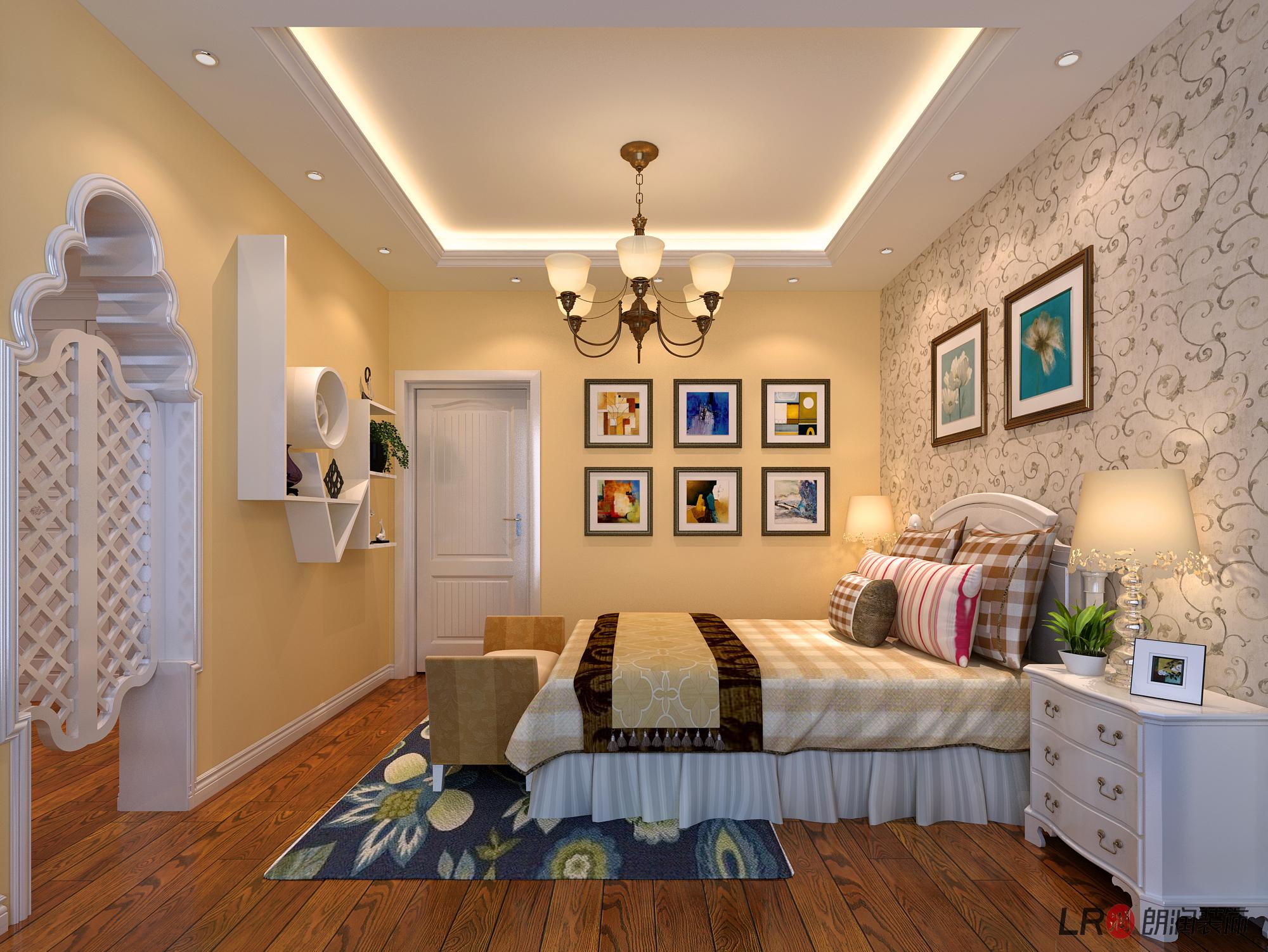 美式 三居 80 旧房改造 卧室图片来自朗润装饰工程有限公司在戎盛苑-147平,美式的分享