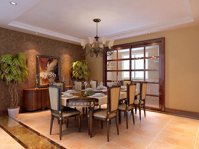 三居 白领 收纳 餐厅图片来自亚光亚装饰在上林溪 三居室 新古典风格的分享