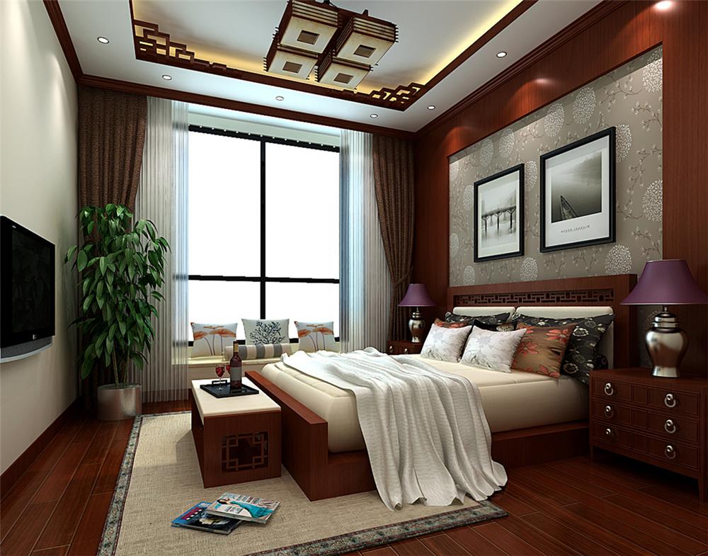 三居 混搭 白领 收纳 80后 小资 卧室图片来自实创装饰完美家装在怀柔龙泉小区180平混搭风格案例的分享