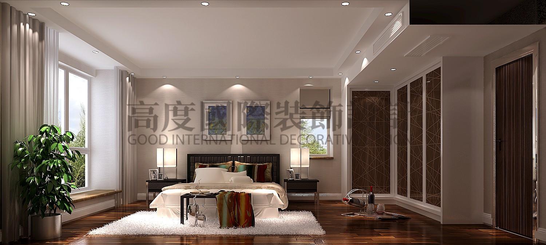 成都高度 别墅装修 别墅装饰 住宅装饰 177㎡ 港式风格 三居 卧室图片来自北京高度国际装饰设计成都分公司在南湖国际-177㎡-港式风格的分享