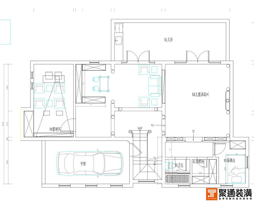 别墅 别墅装修 别墅设计 聚通装璜 长泰西郊别 户型图图片来自jtong0002在长泰西郊别墅户型装修设计方案的分享