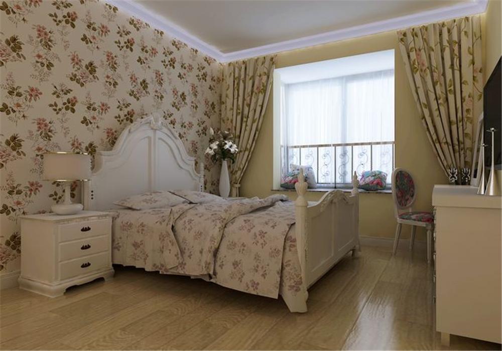 三居 白领 收纳 80后 小资 卧室图片来自实创装饰完美家装在华业东方玫瑰108平田园风格案例的分享