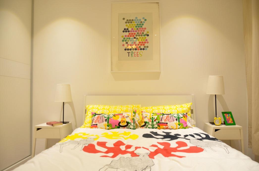 二居 宜家风格 回迁房 卧室图片来自实创装饰晶晶在使用69平2室回迁宜家之居的分享