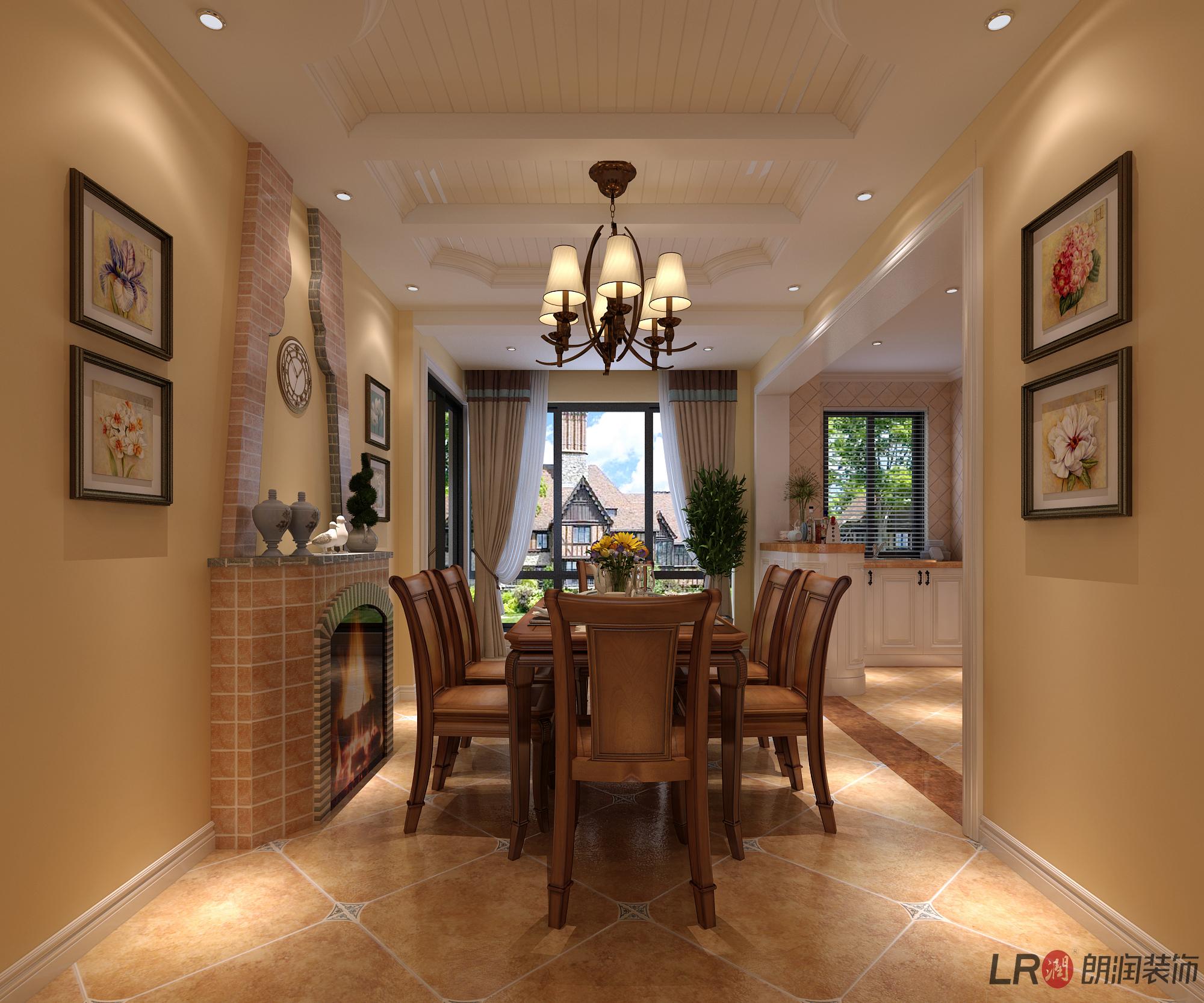美式 三居 80 旧房改造 餐厅图片来自朗润装饰工程有限公司在戎盛苑-147平,美式的分享