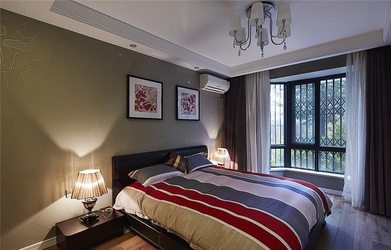 卧室图片来自家装大管家在8万装100平现代三居 简约不简单的分享