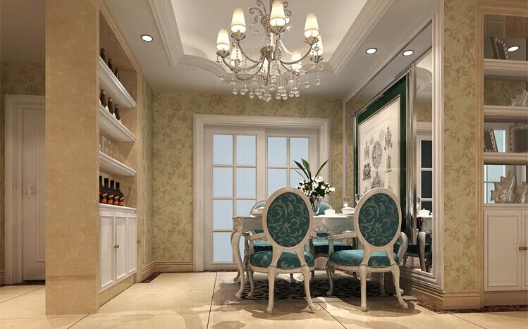 餐厅图片来自用户2652703143在伍号院130平三居欧式风格效果图的分享