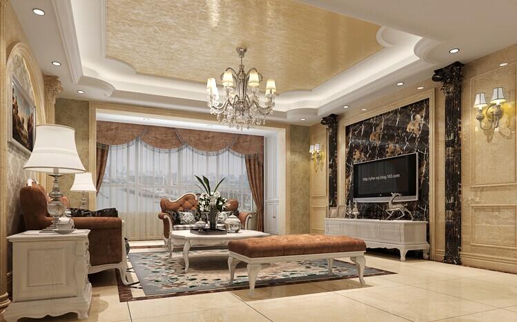 客厅图片来自用户2652703143在伍号院130平三居欧式风格效果图的分享