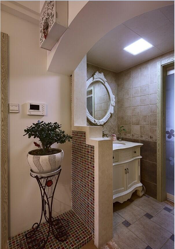 三居 田园 家庭装修 阿拉奇设计 卫生间图片来自阿拉奇设计在韩式田园家庭装修的分享