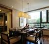 中海国际社区新中式风格设计餐厅