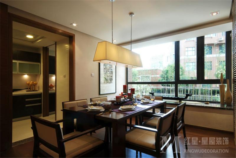 混搭 中式风格 中海国际 四居室 80后 小资 餐厅图片来自红星星屋装饰在中海国际社区-新中式风格的分享