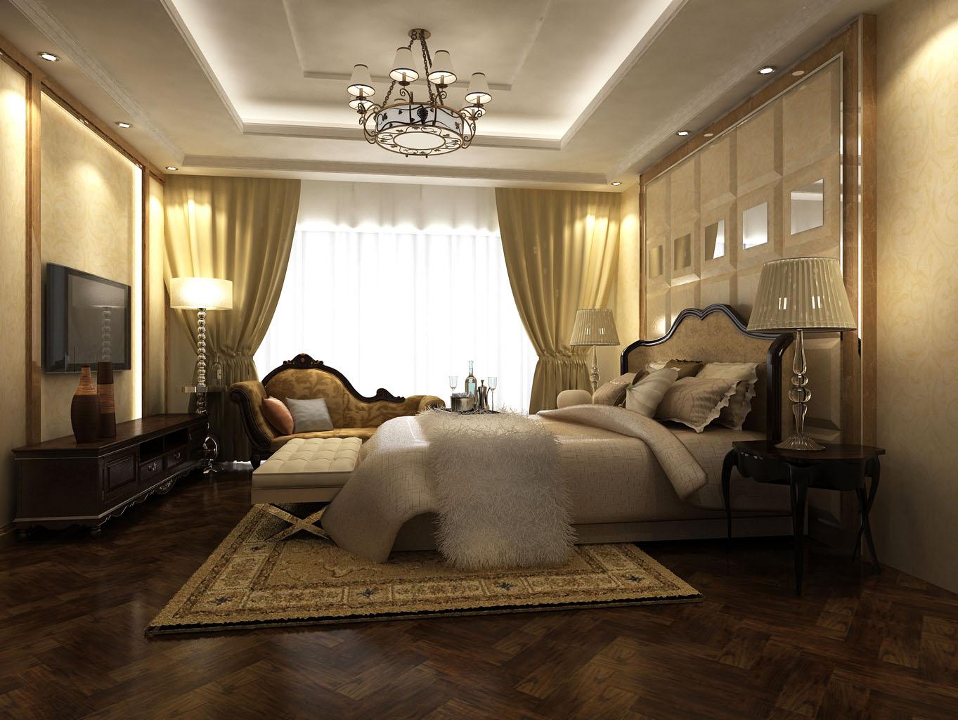 三居 金地公园上 新古典主义 185平米 卧室图片来自传承正能量在精雕细琢,镶花刻金185平新古典的分享