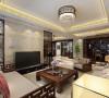 实木家具与理石的搭配组合,配上简单大气的吊顶,使客厅空间有一种含蓄秀美的中国之美,一直是高品位客户的钟爱。