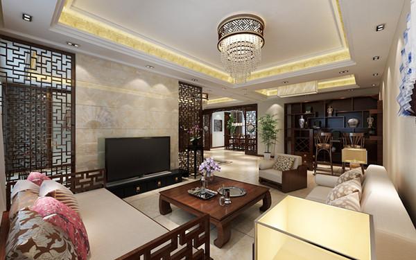 别墅 中式风格 烟台别墅 客厅 卧室图片来自实创小烟在烟台实创装饰-福山别墅的分享