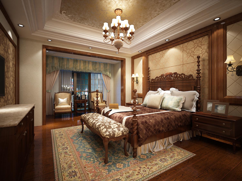 卧室图片来自西安市生活家装饰在华侨城108坊别墅的分享