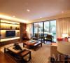 中海国际社区新中式风格设计客厅侧面