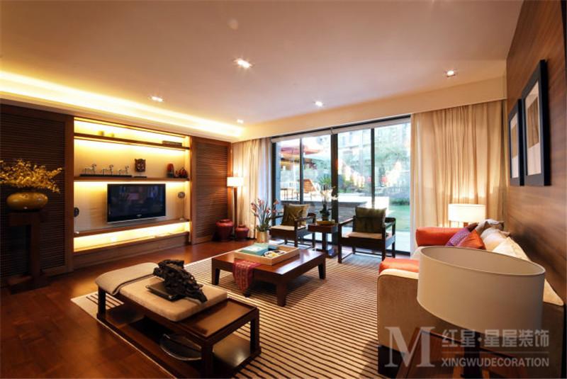 混搭 中式风格 中海国际 四居室 80后 小资 客厅图片来自红星星屋装饰在中海国际社区-新中式风格的分享