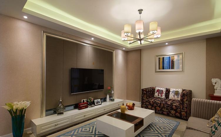 简约 三居 现代 客厅图片来自佰辰生活装饰在112方第二套窝铭刻月静好的分享