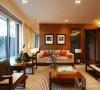 中海国际社区新中式风格设计客厅