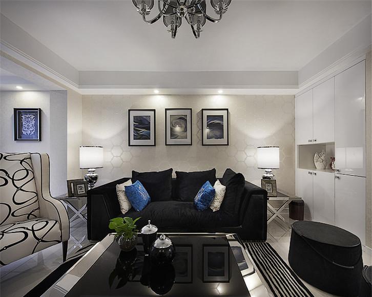 客厅图片来自家装大管家在8万装100平现代三居 简约不简单的分享