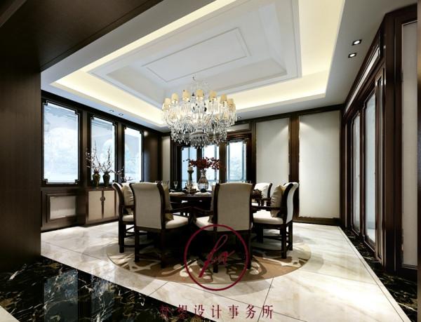 餐厅是家中重要的场所之一,餐厅的设计是家庭装修中重要的环节之一,次设计餐厅空间没有什么华丽装修,简洁的餐桌椅配上温馨灯饰,使整个空间大气而又时尚、清新。