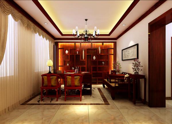 中式风格的书房所展示出的书房特有的韵味,让书香满溢。同时,中式书房在装修设计时还可以结合现代的元素,使书房装修与时俱进,更符合现代人的生活。