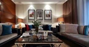 港式 大气 舒适 时尚 客厅图片来自佰辰生活装饰在136平静谧舒适港式美家的分享