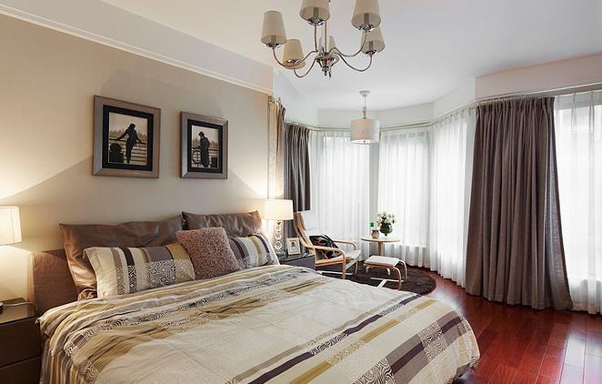 港式 大气 舒适 时尚 卧室图片来自佰辰生活装饰在136平静谧舒适港式美家的分享